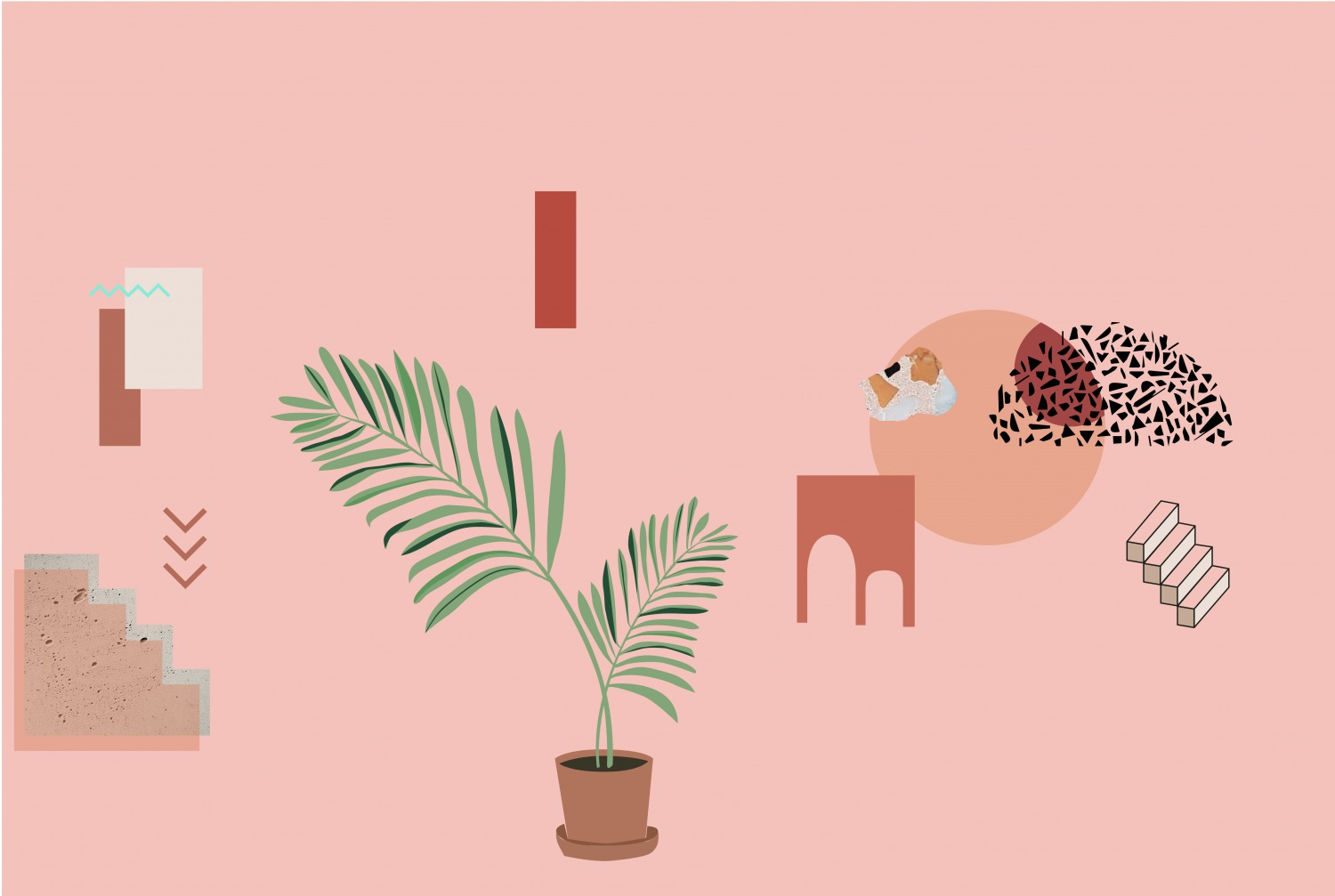 illustration terracotta et marsala pantone